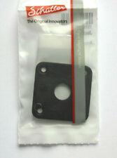 Schaller 4-Loch Placa de Toma Gato, Curvada Cromo Negro Incl. Tornillos