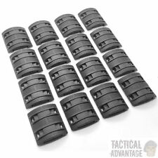 32 x Black Airsoft AEG Handguard 20mm Rail Covers Magpul Style XTM Panels RIS UK