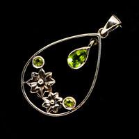 """Peridot 925 Sterling Silver Pendant 1 1/2"""" Ana Co Jewelry P731666F"""