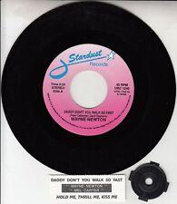 "WAYNE NEWTON Daddy Don't You Walk So Fast 7"" 45 rpm record + juke box strip NEW"