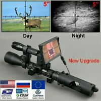 Night Vision Riflescope Hunting Sight Tactical 850nm Infrared LED Waterproof NEW