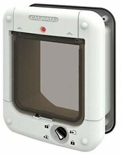 Microchip Pets Door Large Cat Flap Small Dog Big Cat White Micro Chip Open New