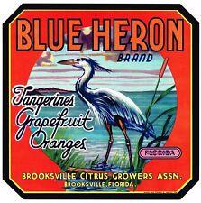 Vivid Arts-La vie réelle oiseaux-heron sur souche d/'arbre British Bird