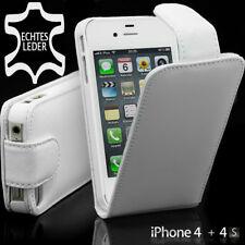 ? Apple iPhone 4 4s 4g flip bolso funda protectora cubierta Cover Flip case original Weiss
