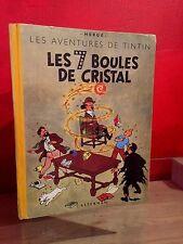 B++ /TINTIN /LES 7 BOULES DE CRISTAL / B2  1948/ TITRE EN NOIR /RARE/ HERGE