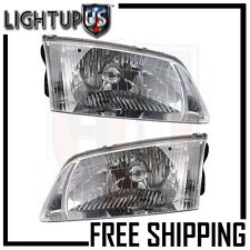 Headlights Headlamps Pair Left right set for 00-02 Mazda 626