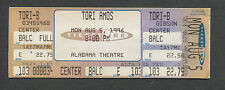 1996 Tori Amos Unused Full Concert Ticket Birmingham Alabama Boys For Pele