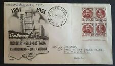 1951 Australia Stamp Fdc - Discovery Of Gold / State Of Victoria - 2/7/51