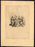 Antique Master Print-CHRIST-SIMON THE PHARISEE-WASHING FEET-Callot-ca.1620