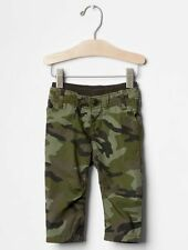 GAP Baby Boys Size 3-6 Months NWT Green Camo Pull-On Pants Leggings Jeans
