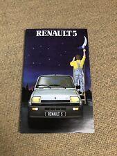 Prospekt Renault 5 aus den späten 70er Jahre
