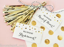 Will You Be My....? Tags & Tassels (set of 6) ask your bridal party Wedding
