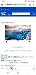 "Samsung QN32Q50R 32"" QLED 4K Smart TV - Charcoal Black"