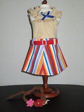"1970's tank & striped Skirt fits American Girl Julie & 18"" Dolls NIP"