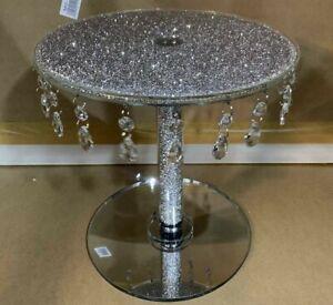 luxury Crushed Diamond Cake Stand Fruit Plate Tier Crystal Wedding Diameter 30cm