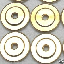 Large Brass Insignia Screw Back Nut 5/8 in 16mm dia x 40 threads Lot of 4 pcs
