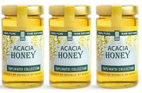 Acacia Raw Honey (3-PACK); Natural Wildflower Honey