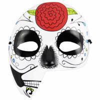 Halbmaske Blume Plastik Sugar Skull Halloween Verkleidung Maske Karneval Zubehör