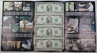 Series 1976 4 Subject Uncut $2 Crisp UNC Sheet IA Block Letters in BEP Folder