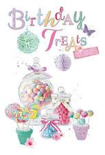 WONDERFUL COLOURFUL SWEETS BIRTHDAY TREATS BIRTHDAY GREETING CARD