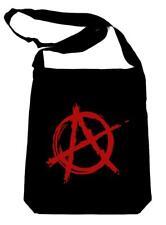 Red Anarchy Punk Rock Crossbody Sling Bag School Gothic Alternative Grunge Emo