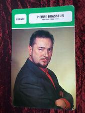 PIERRE BRASSEUR -  MOVIE STAR - FILM TRADE CARD - FRENCH
