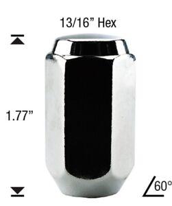 20 Pc DODGE DAKOTA CHROME SOLID CUSTOM AFTERMARKET WHEEL LUG NUTS 9/16 #1210L