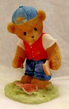 Very Rare Cherished Teddies Ct0051A Neal Boy Feeding Bird Bread Jeans Cap Nib 9