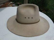 Stetson 4X Beaver Cowboy Hat w/ Stetson Badge Size 7 1/4