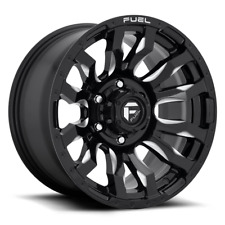 18x9 ET1 Fuel D673 Blitz 8x180  Black Milled Rims (Set of 4)
