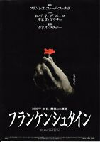 Mary Shelley's Frankenstein Japanese Chirashi Mini Ad-Flyer Poster 1994