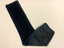 """Women's 7 FOR ALL MANKIND """"Colette"""" Size 31 Low Rise Denim Blue Jeans Act:32x33"""