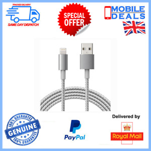 For iPhone 5 6 7 8 X Unbreakable Silver 3 m Fast Charging Cable Charger