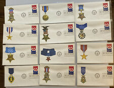 FDC FIRST DAY COVERS SET OF TWELVE VETERANS ADMINISTRATION MEDALS OF HONOR CACHE