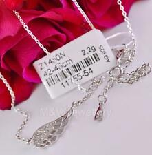 NECKLACE ANGEL WING WHITE ZIRCONIA 925 STERLING SILVER RHODIUM PLATED
