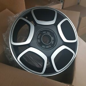 4x 16x6.5 4x100 et43 56.56CB Fiat Style Wheels Matt Black Machined   NEW No Caps