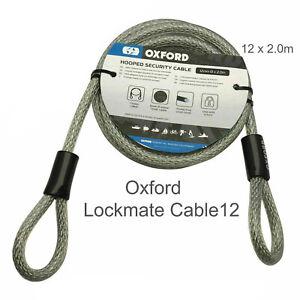 200cm Flexible LOOP SECURITY CABLE Steel Lock Extender Motorbike Wire Rope Inner