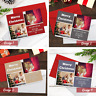 Personalised Pack of Christmas Cards With Photos + Envelopes Folded (A6 Size)