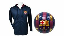 FC Barcelona Official Soccer Hoodie Jacket & Size 5 Ball Combo Adult 39 XL