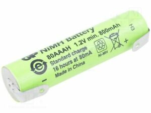 Batería AAA R3, 1,2V/800mAh NI-MH con terminales