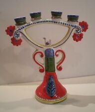 Handpainted Candelabrum (4 candles) - Italian Ceramic - De Simone