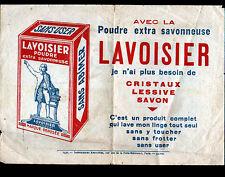 """TRACT PUBLICITAIRE / SAVON LESSIVE Poudre """"LAVOISIER"""" illustrée DEVINETTE en1932"""