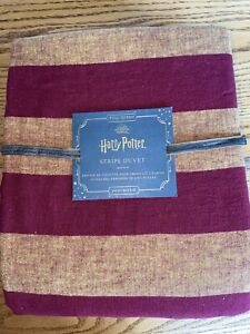 NWT Pottery Barn Kids Harry Potter Stripe Duvet Wizarding World  Sz FULL/QUEEN