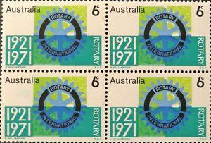 1971 Australia 50th Anniversary Rotary International Block 4x6c MUH Stamp issues