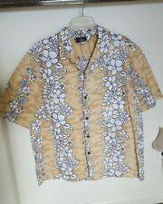 Royal Creations Taupe Orchid XXL Mens Hawaiian Aloha Shirt Hawaii Coconut Button