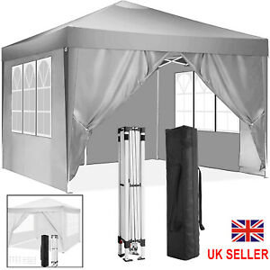 3x3m Gazebos Garden Pop Up Gazebo Marquee Party Tent Wedding Canopy with 4 Sides