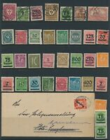 Lot Stamp Germany Inflation Era Official Cover Used