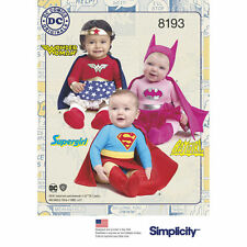 Simplicity SEWING PATTERN 8193 Babies Costumes-Batgirl,Wonder Woman, Supergirl