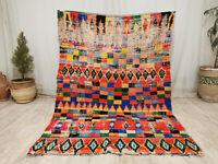 "Vintage Moroccan Boujaad Handmade Rug 3'2""x5'5"" Picasso Berber Amazigh Rug"