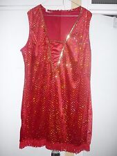 Charleston dress red sequin xl
